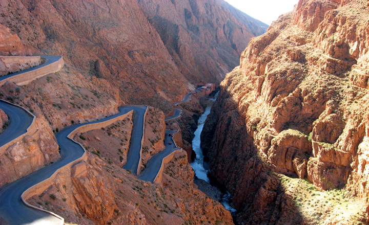 The Dades Valley is the famous road of the thousand Kasbahs in Morocco