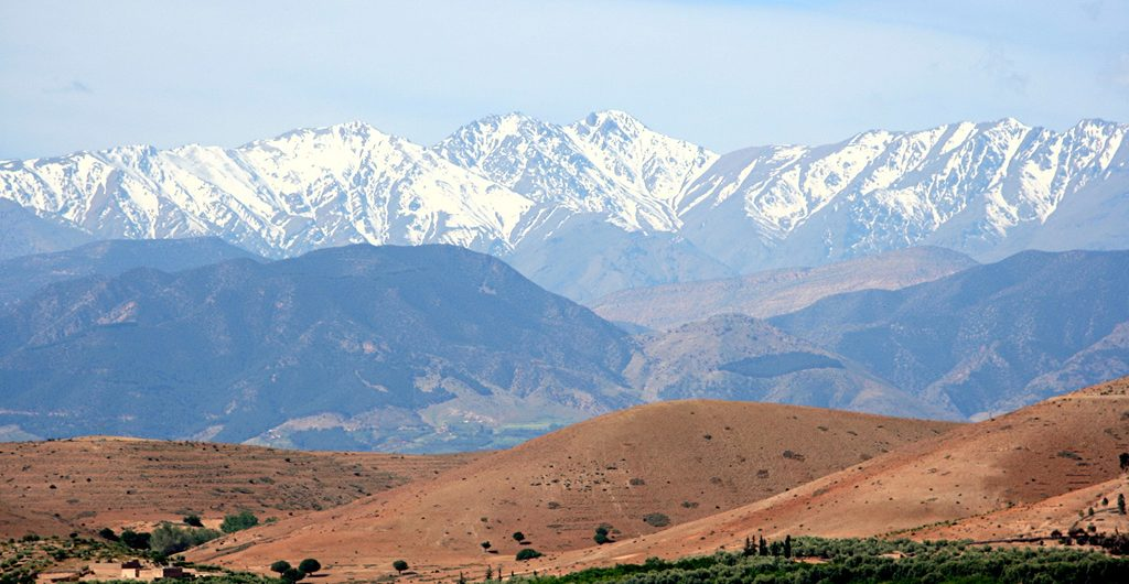 The Atlas mountain around Marrakech