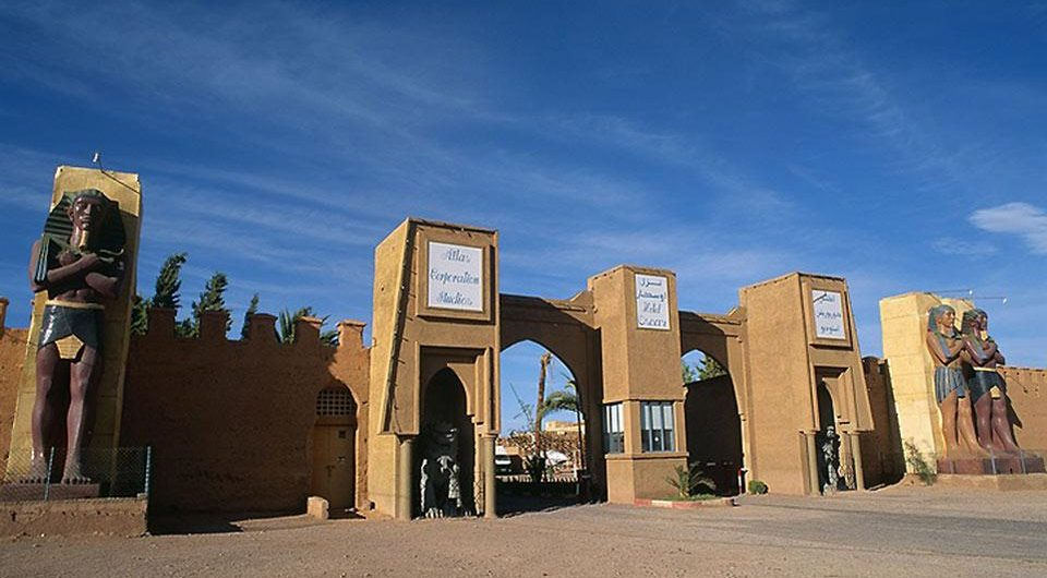 the region of Ouarzazate is one of the a largest international cinematographic area
